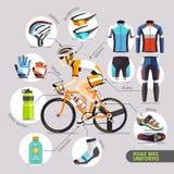 Uniformes de la bici del camino stock de ilustración