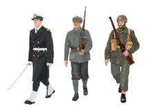 Uniformes do exército polonês Imagem de Stock