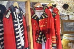 Uniformes historiques dans Gibralter Photos stock