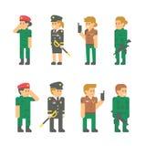 Uniformes planos del soldado del diseño Fotos de archivo libres de regalías