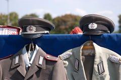 Uniformes - República Democrática da Alemanha GDR Fotos de Stock Royalty Free