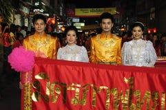 Uniformi tailandesi antiche durante il nuovo anno cinese Immagini Stock Libere da Diritti