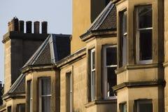 Uniformité des maisons en Grande-Bretagne, Ecosse photos stock