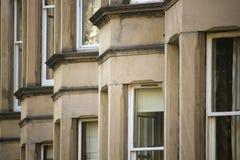 Uniformité des maisons en Grande-Bretagne, Ecosse images stock