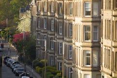 Uniformité des maisons en Grande-Bretagne, Ecosse image libre de droits