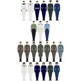 Uniforms Army of China Royalty Free Stock Photos