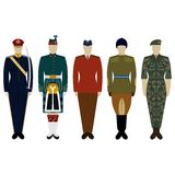 Uniforms of the British Army since 2000 Royalty Free Stock Photography