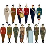 Uniforms of the British Army Royalty Free Stock Photo