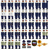 Uniforms of the Ministry of Justice. Uniforms and insignia of the Ministry of Justice. The illustration on a white background Stock Images