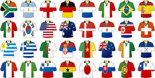 Uniforms of national flags Royalty Free Stock Images
