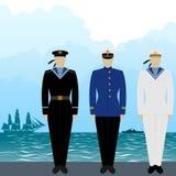 Uniforms sailors Tsarist Russia Royalty Free Stock Photos