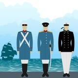 Uniforms sailors Tsarist Russia-1 Stock Photos