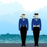 Uniforms Soviet sailors Royalty Free Stock Image