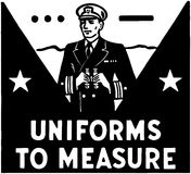Uniforms To Measure Stock Photo