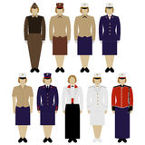 Uniforms women soldiers of the US Army Stock Photography