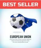 Unii Europejskiej pi?ki no?nej lub futbolu pi?ka Futbolowy dru?yna narodowa. r?wnie? zwr?ci? corel ilustracji wektora zdjęcia stock