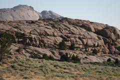 unik bergsida Arkivbild