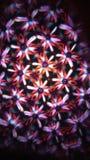 Unik blomma från en annan galax Gjort av special teknologi royaltyfria bilder