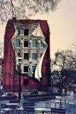 Unik byggnad - Aka strykjärnbyggnaden royaltyfri fotografi