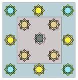 Unik design för sängark allt lagerfärgfullföljande Arkivfoton
