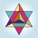 Stjärna Tetrahedr Fotografering för Bildbyråer