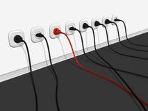 unik electro linje en vektor illustrationer