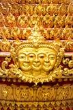 Unik guld- skulptur Royaltyfri Fotografi