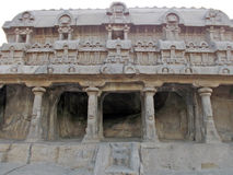 Unik hand sned monument i Mahabalipuram Arkivfoton