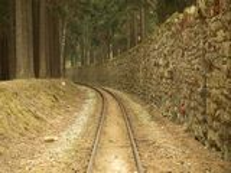 Unik historisk smal-mått järnväg Arkivfoton