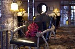 Unik hotelllobby royaltyfri bild