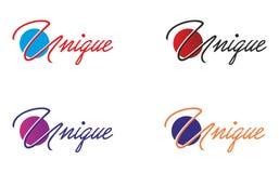 Unik logo Royaltyfria Foton