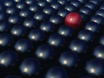 unik röd sphere för metall stock illustrationer