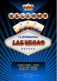Unik reklamblad för vektor för parti i kasino i Las Vegas Arkivbild