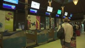 Unik Samui internationell flygplats i för materiellängd i fot räknat för öppen luft videoen arkivfilmer
