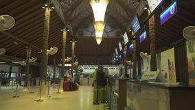 Unik Samui internationell flygplats i för materiellängd i fot räknat för öppen luft videoen lager videofilmer