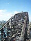 Unik sikt av Sydney Harbor Bridge Fotografering för Bildbyråer
