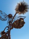Unik skulpturkonst, i stadens centrum Reno, Nevada Arkivfoto