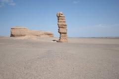 Unik sten i det yadan landformsdunhuang porslinet Arkivbild