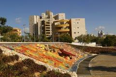 Unik vattenspringbrunn i öl Sheba, Israel Arkivbild
