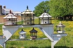unika birdhouses Royaltyfri Bild