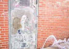 Unika grafitti som finnas på gatorna av Halifax Kanada arkivbild