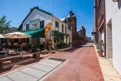 Unika historiska byggnader i i stadens centrum historiskt, York, Pennsylvan arkivfoto