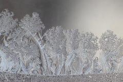 Unika ismodeller på fönsterexponeringsglas Royaltyfri Bild