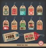 Unika Sale etiketter royaltyfri illustrationer