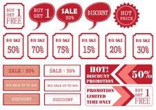 Unika Sale etiketter Royaltyfri Foto