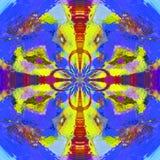 Unikalna Abstrakcjonistycznej sztuki tła ilustracja zdjęcia stock