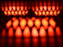 Unikalna czerwień i kolor żółty iluminująca światła tła fotografia Zdjęcie Stock