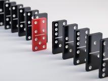 Unikalna czerwona domino płytka Zdjęcia Stock