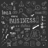 Unikalna kolekcja ręki rysujący biznesów doodles Obraz Stock