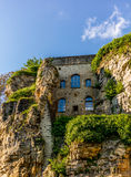 Unikalna średniowieczna architektura w Luksemburg Zdjęcie Stock